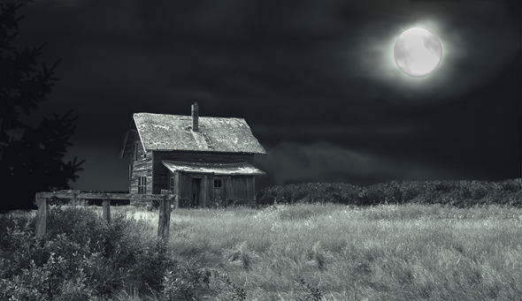 Old House in Moonlight