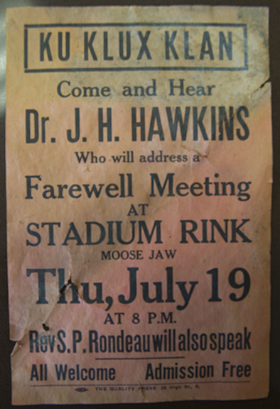 History is not always a time of pride and happy moments. We even unearthed a KKK poster from 1927...