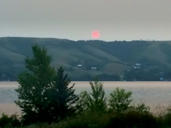 Smokey Sunrise over Buffalo Pound Lake, August 27th, 2015